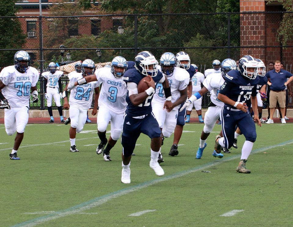 Amani Murphy, Jr. (#22) rushed for 98 yards vs. Canarsie.